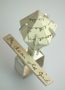 'My Dear Old Girl' - Ring. Recycled Silver and 1900's postcards. 2012